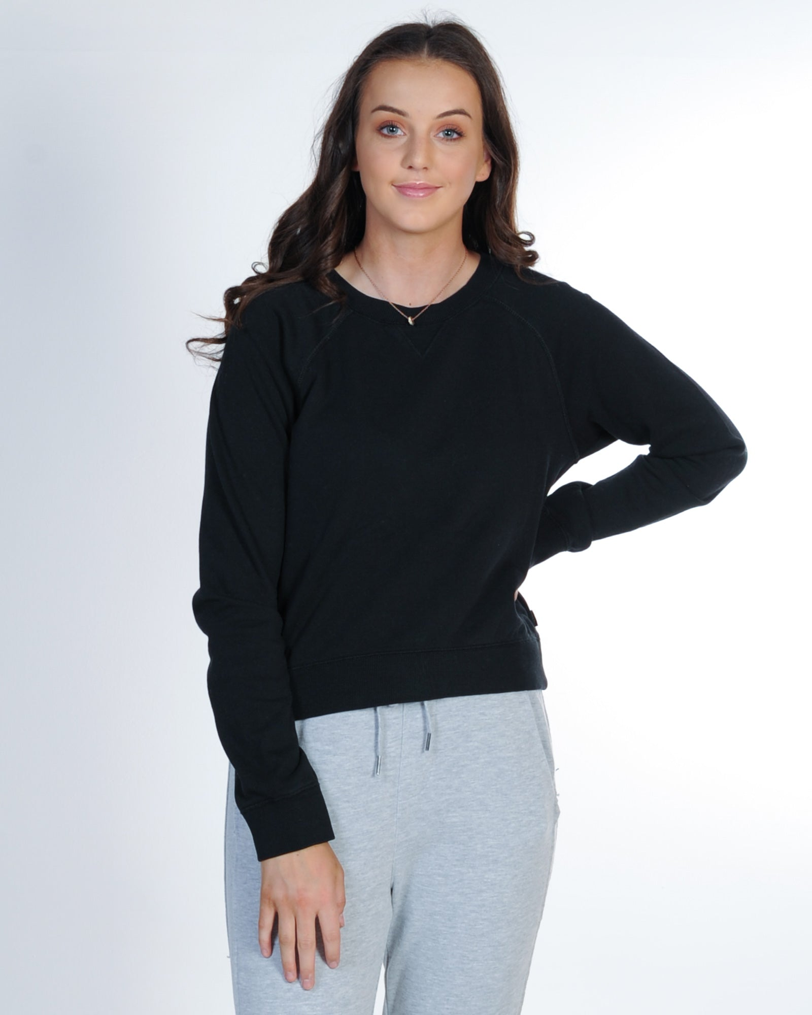 Silent Theory Boss Crew Sweat - Washed Black