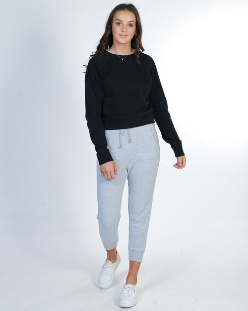 All About Eve Player Rib Trackpant - Grey Marle