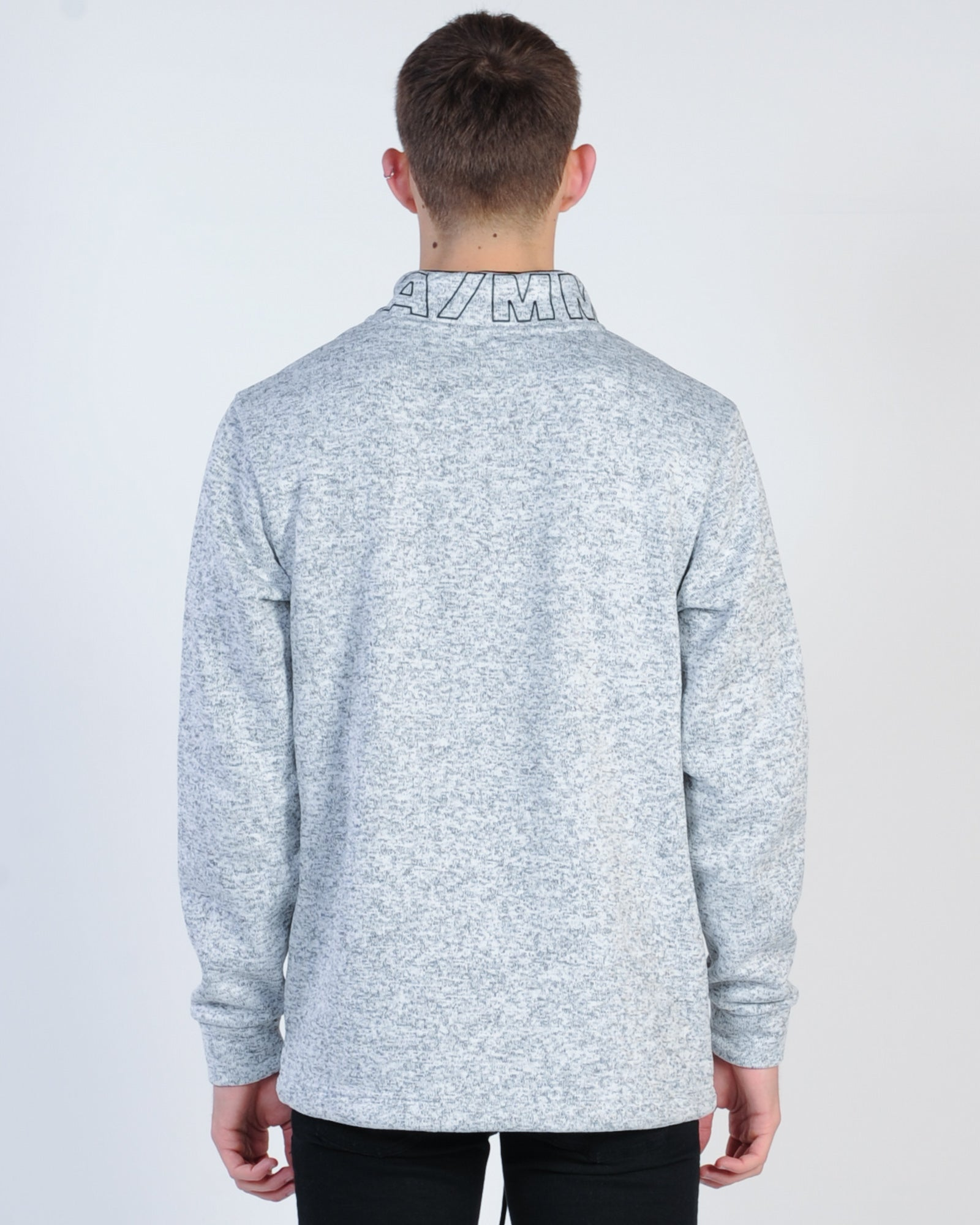 St. Goliath Skylight Quarter Zip Sweat - Grey Marle