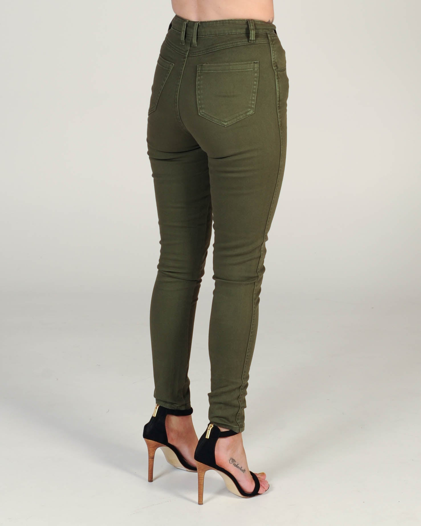 Dallas High Waisted Jean - Khaki