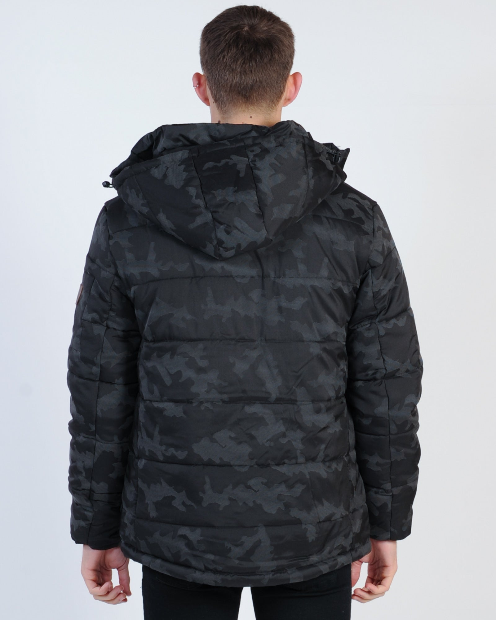 St. Goliath Sabre Puffer Jacket - Black Camo