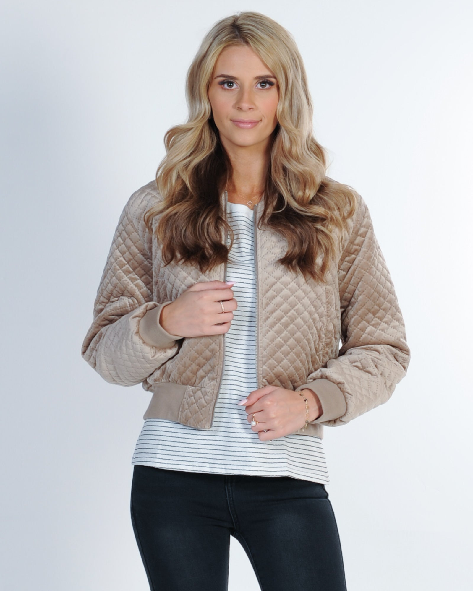 Nude Lucy New Frankie Bomber - Stone