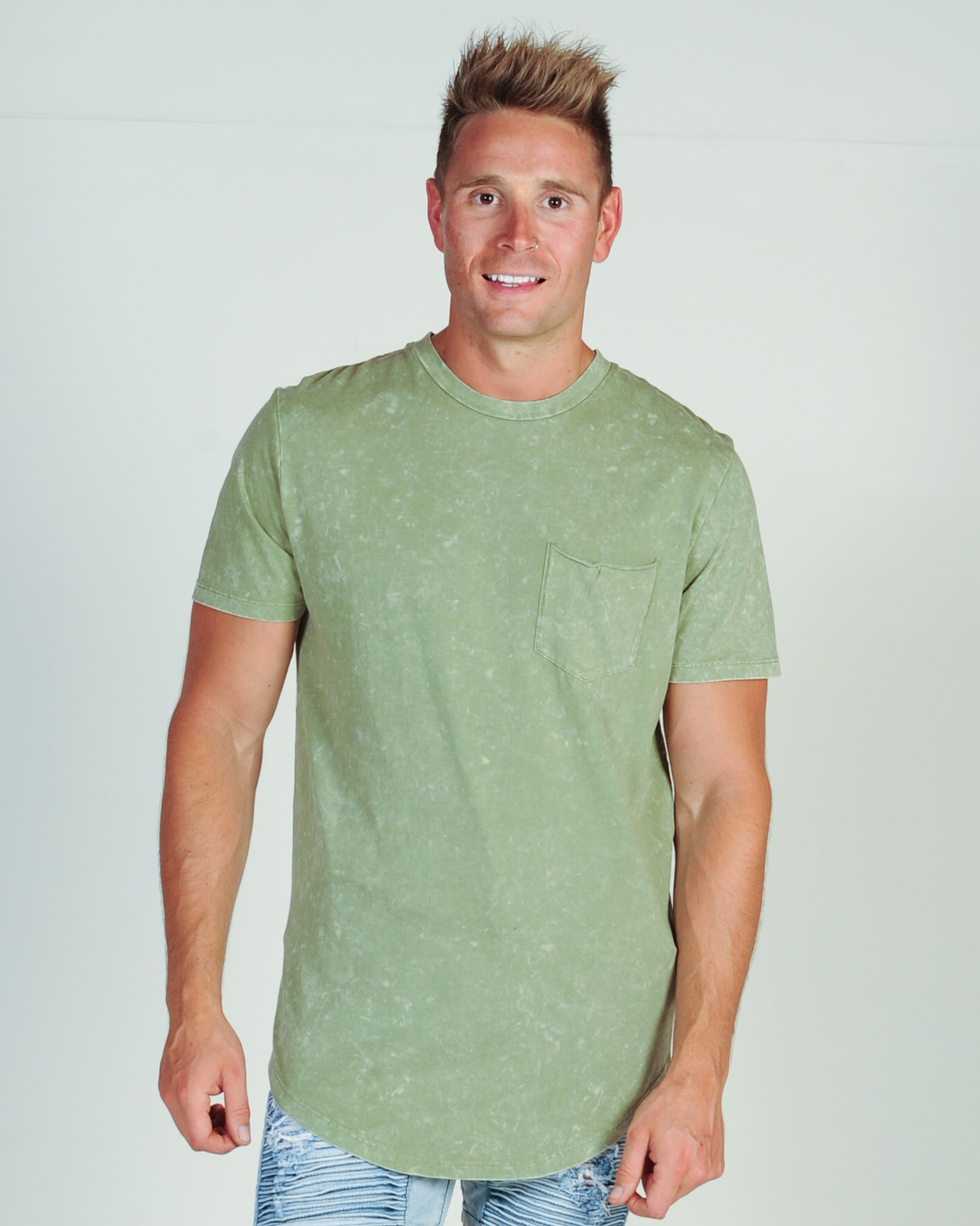 KISS CHACEY OFFSHORE TEE - ACID KHAKI