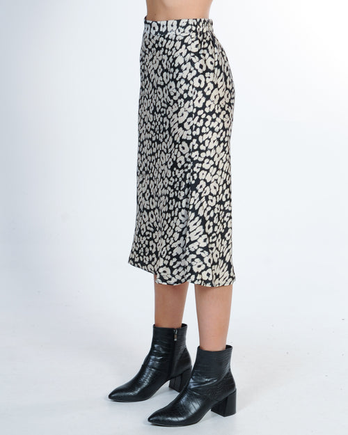 Party People Skirt - Black Leopard