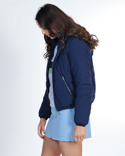 All About Eve Rosa Puffer Jacket - Navy