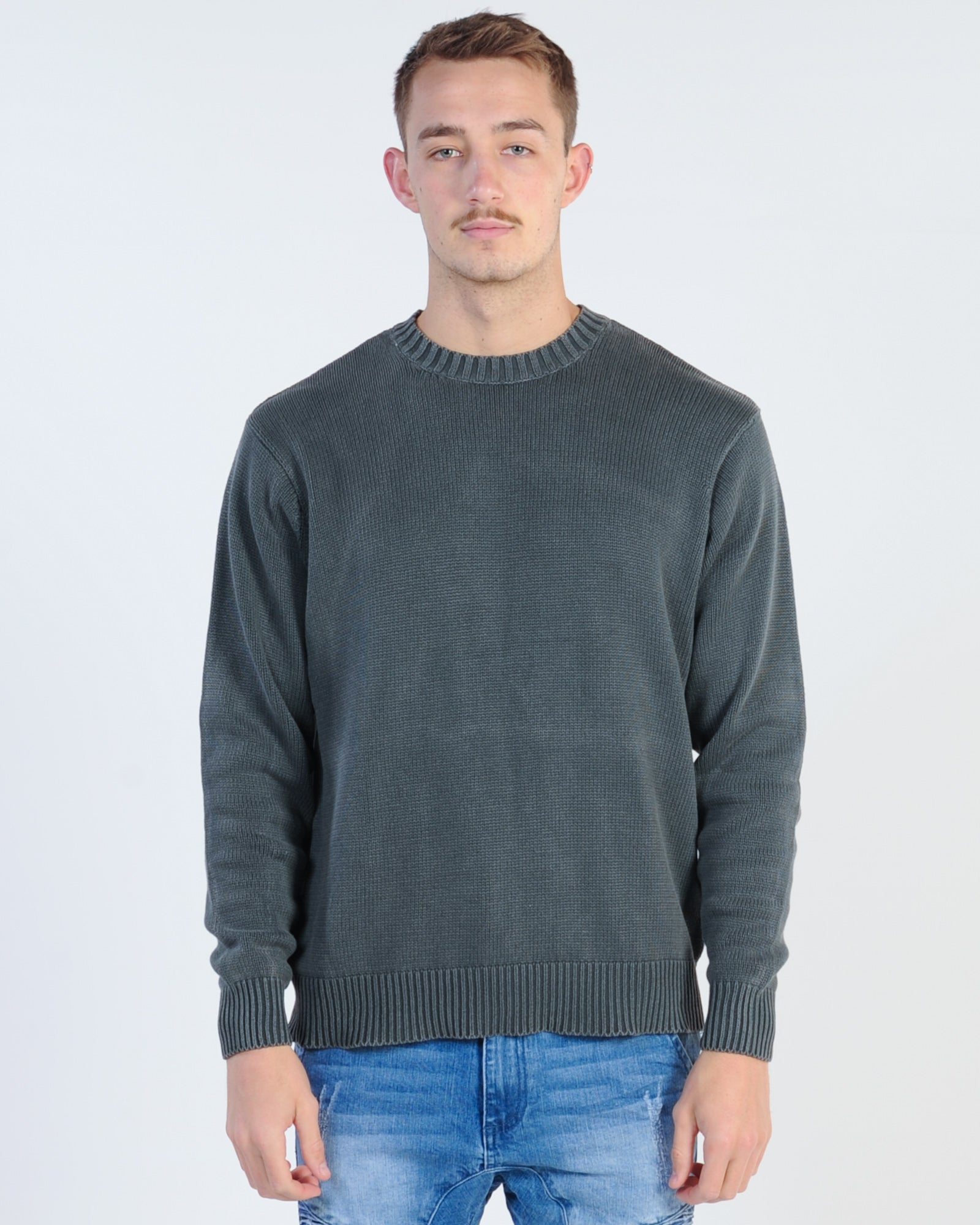Silent Theory Matrix Knit Jumper - Charcoal