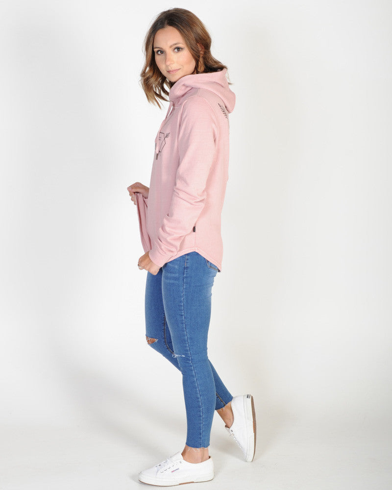SILENT THEORY CONNECT HOODY - BLUSH