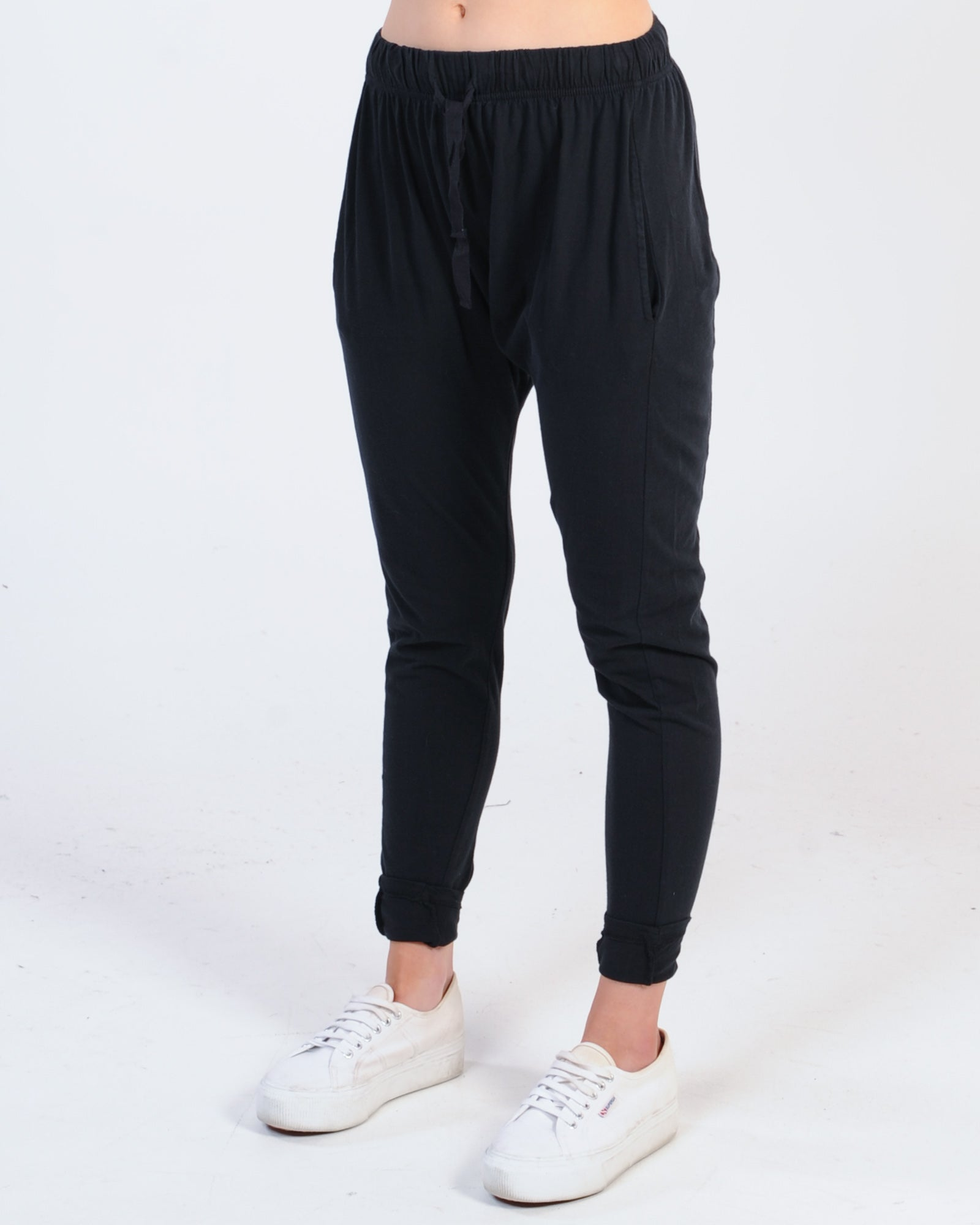 Silent Theory Fluid Trackpant - Black