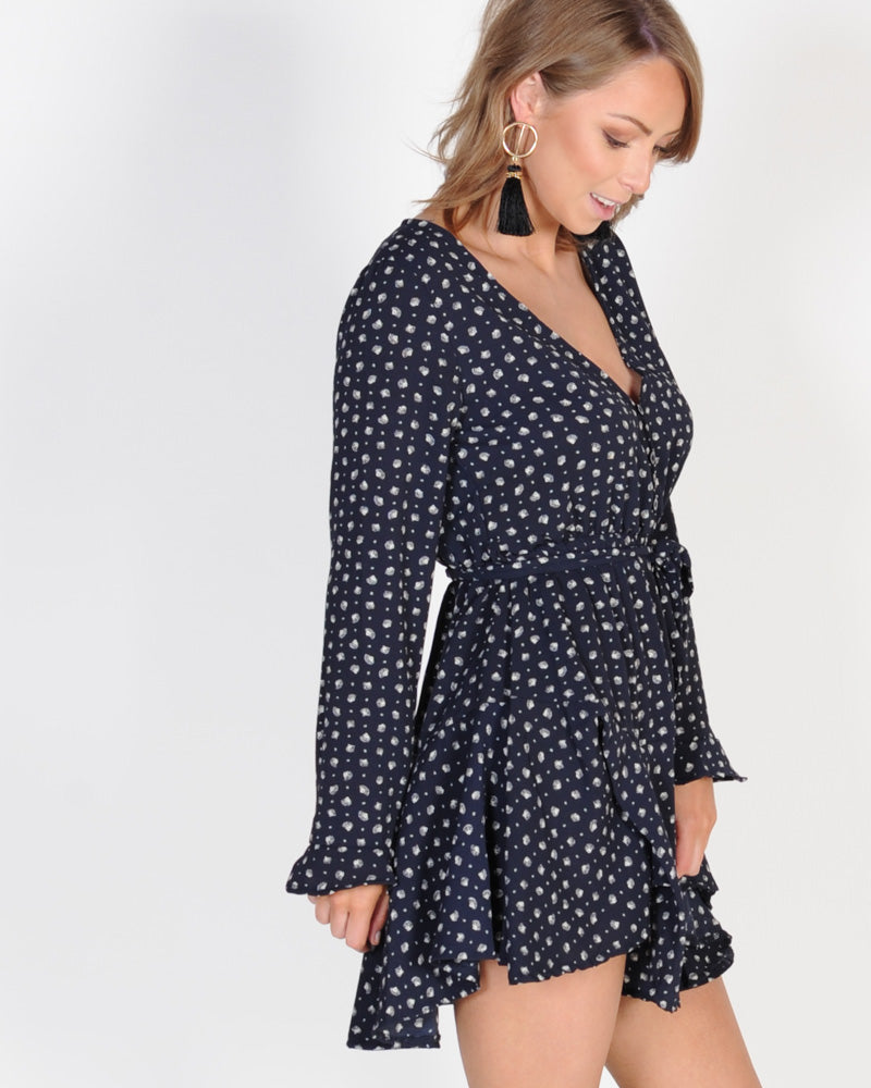 BY THE SHORE DRESS - NAVY