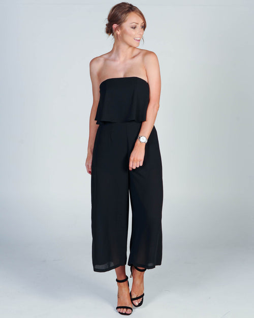 RELEASE ME JUMPSUIT - BLACK