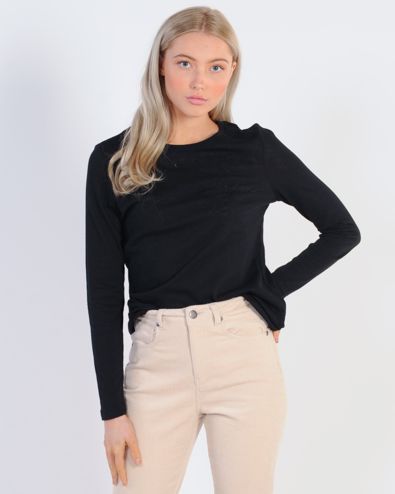 Madison The Label Madison L/S Top - Black