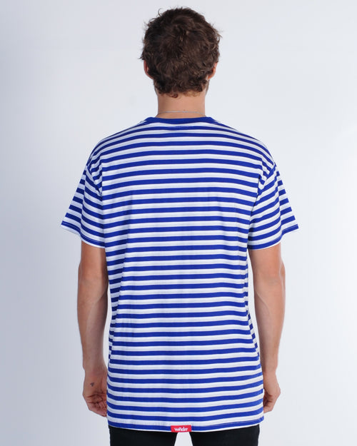 Wndrr Vapor Stripe Custom Fit Tee - Navy/Grey/White