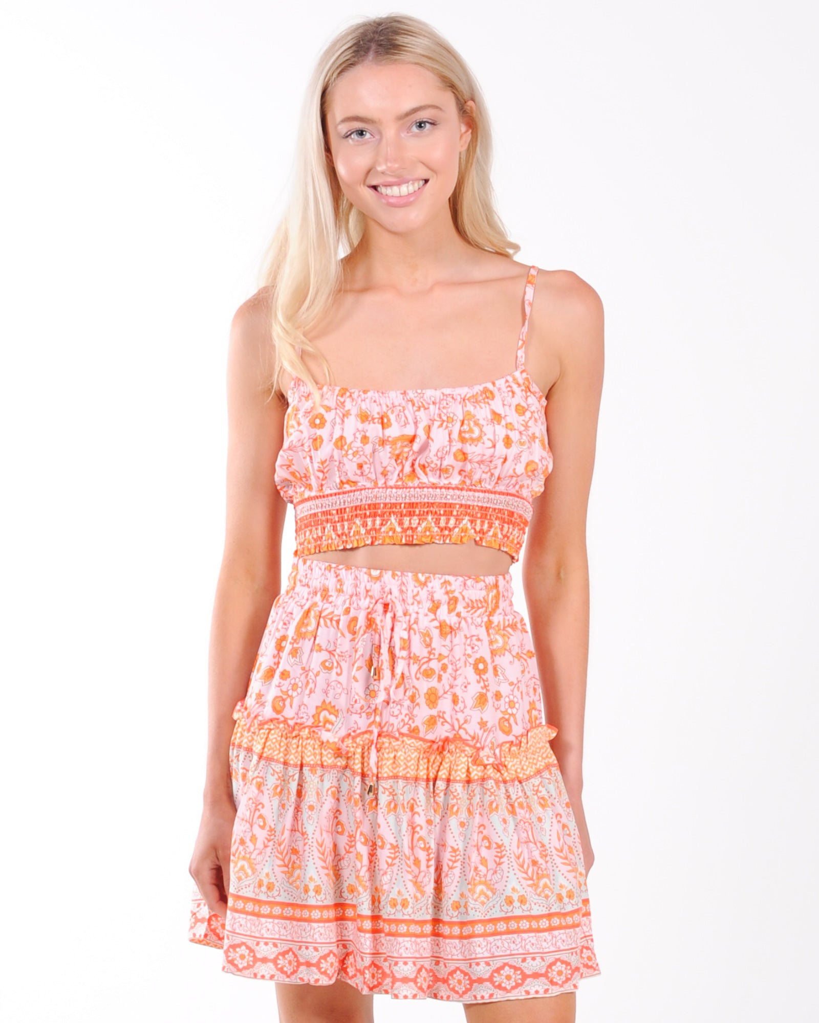 Chain Reaction Crop Top - Orange