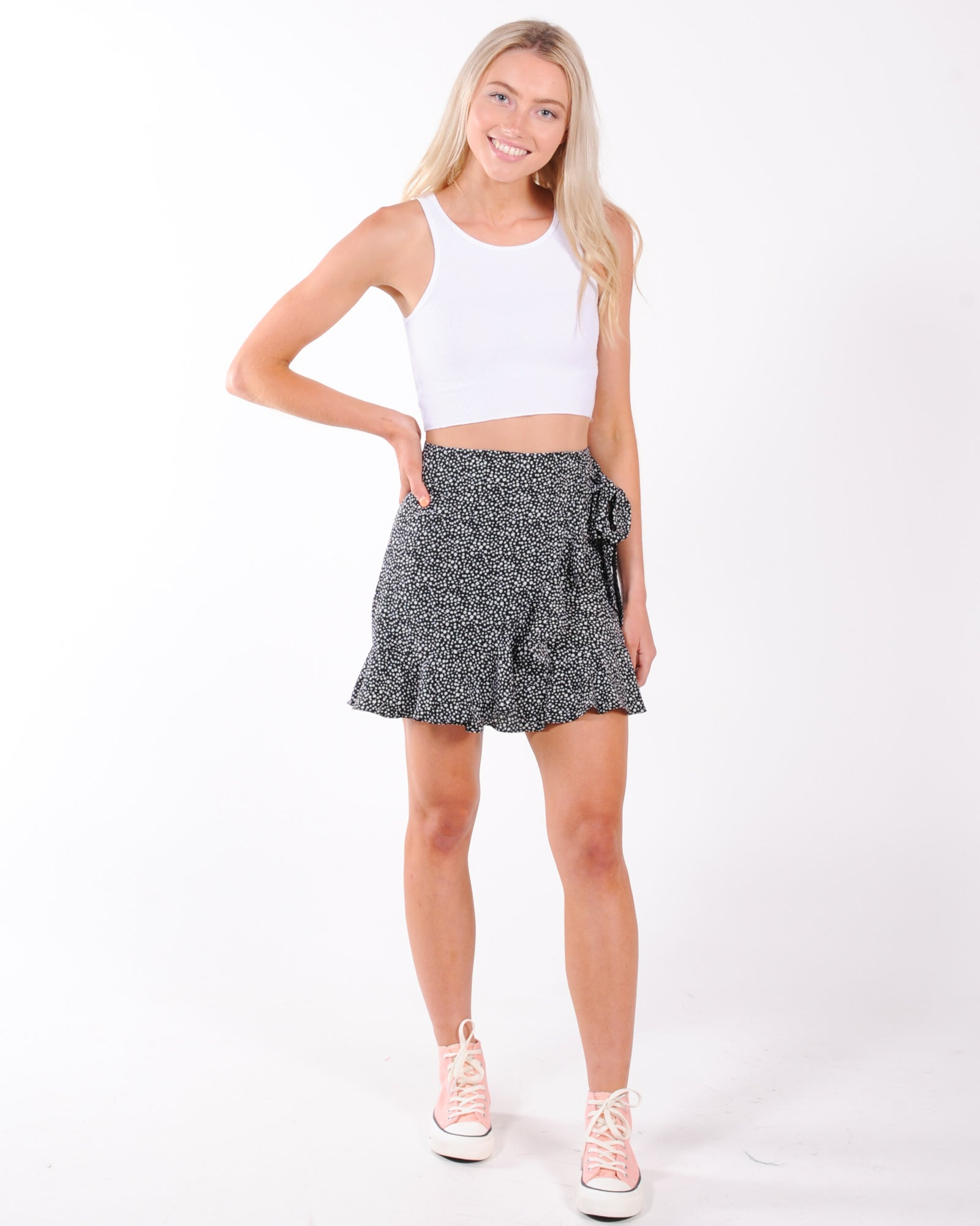 Sun Bliss Wrap Skirt - Black