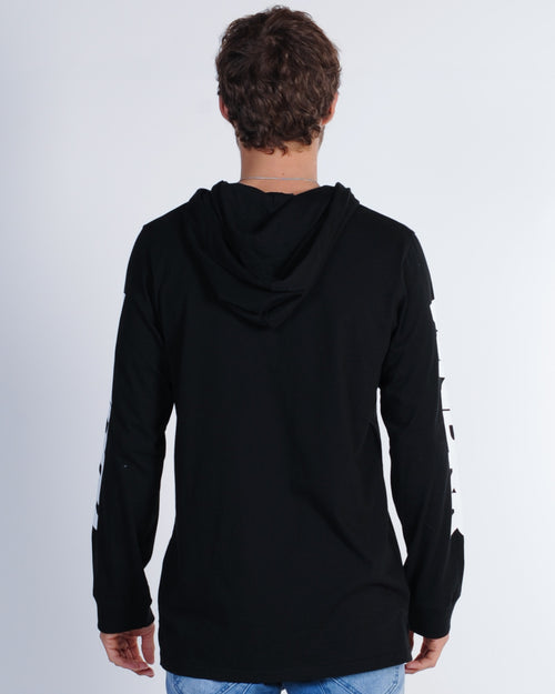 Wndrr Force L/S Hooded Tee - Black