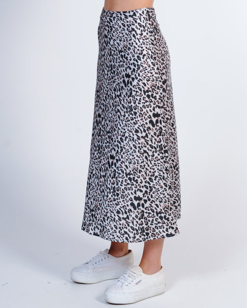 Jungle Out There Midi Skirt - Leopard
