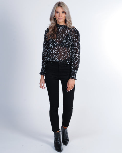Iconic L/S Top - White Spot