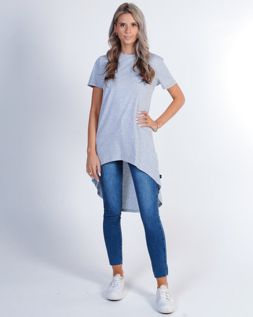 Silent Theory Row Tee - Grey Marle