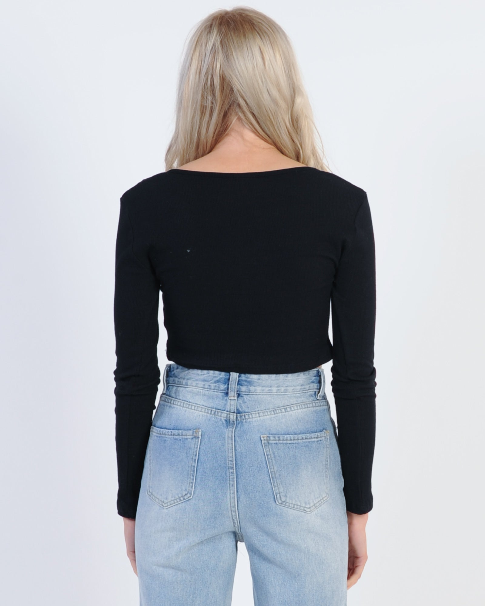 Carried Away Rib Top - Black