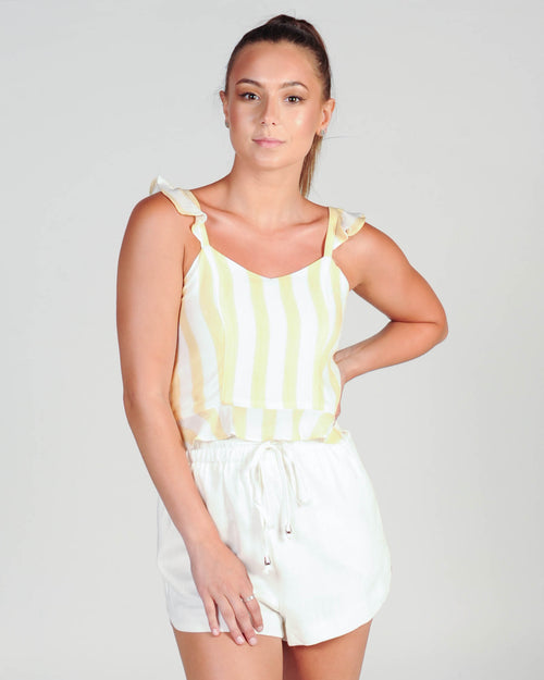 LIGHT UP TOP - TAN STRIPE