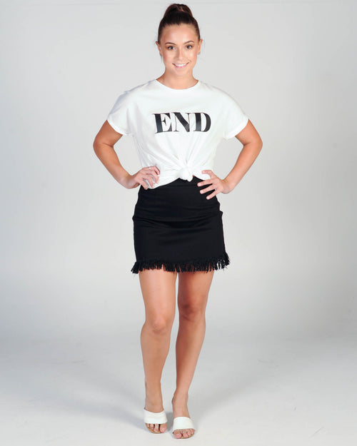 IN THE END TEE - WHITE