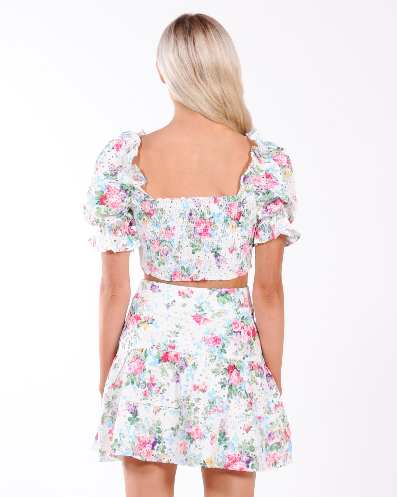 Sndys Bahama Top - White Floral
