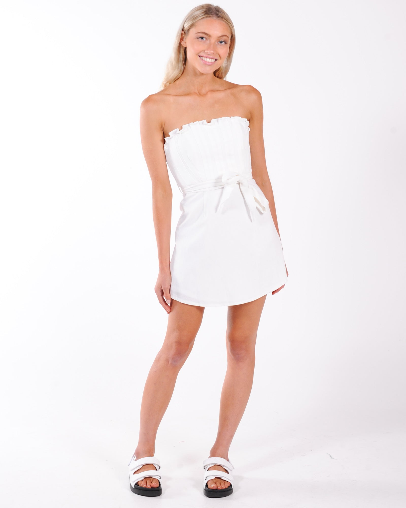 Celebrity Mini Dress - White