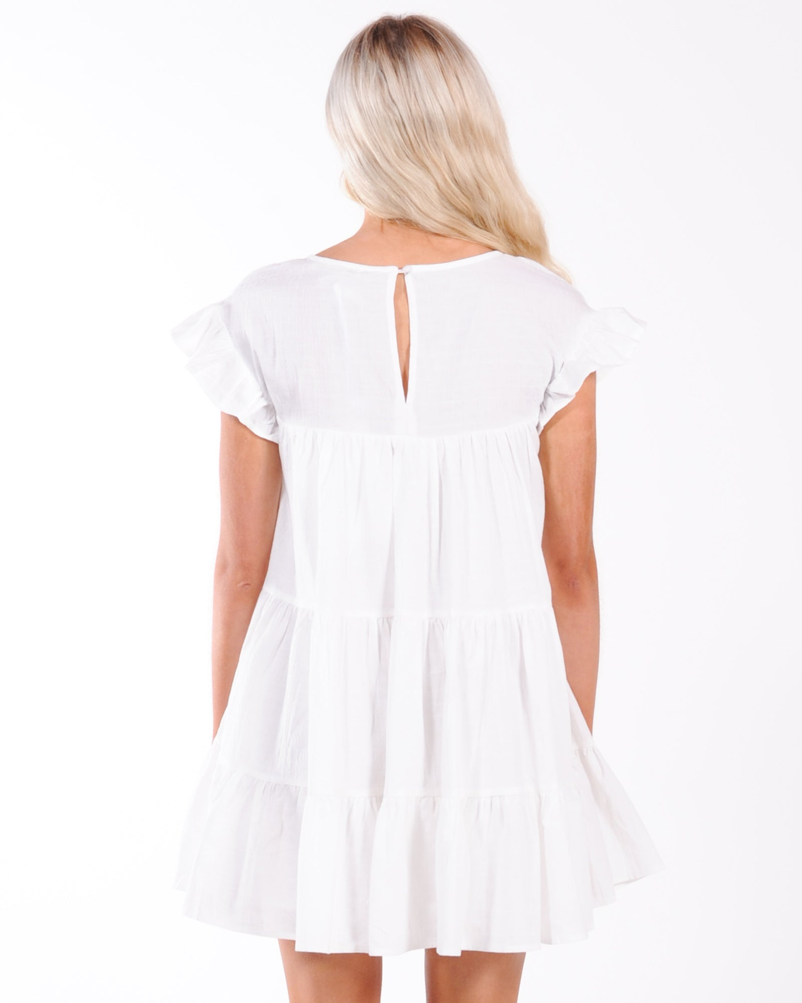 Garden Party Babydoll Dress - White