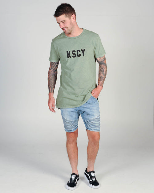 KISS CHACEY LOST TEE - ACID KHAKI