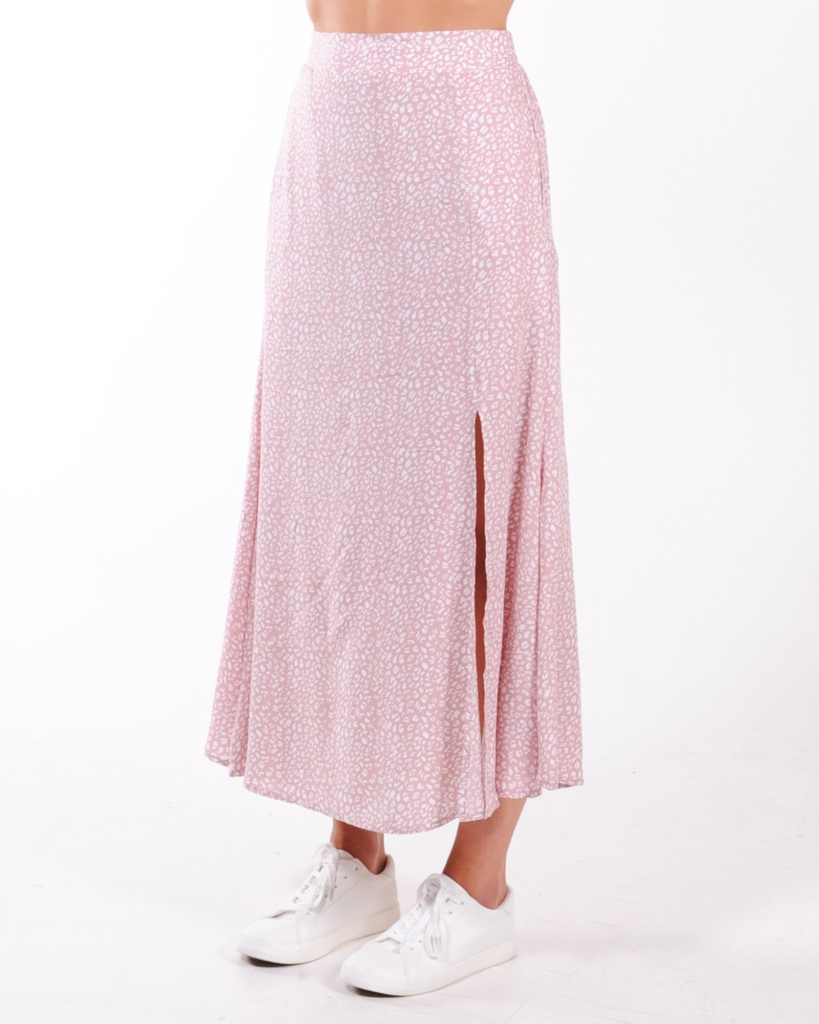 Lost In Time Midi Skirt - Pink