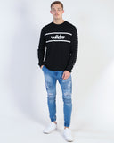 AFENDS THROW RAGLAN CREW NECK SWEAT - GREY MARLE