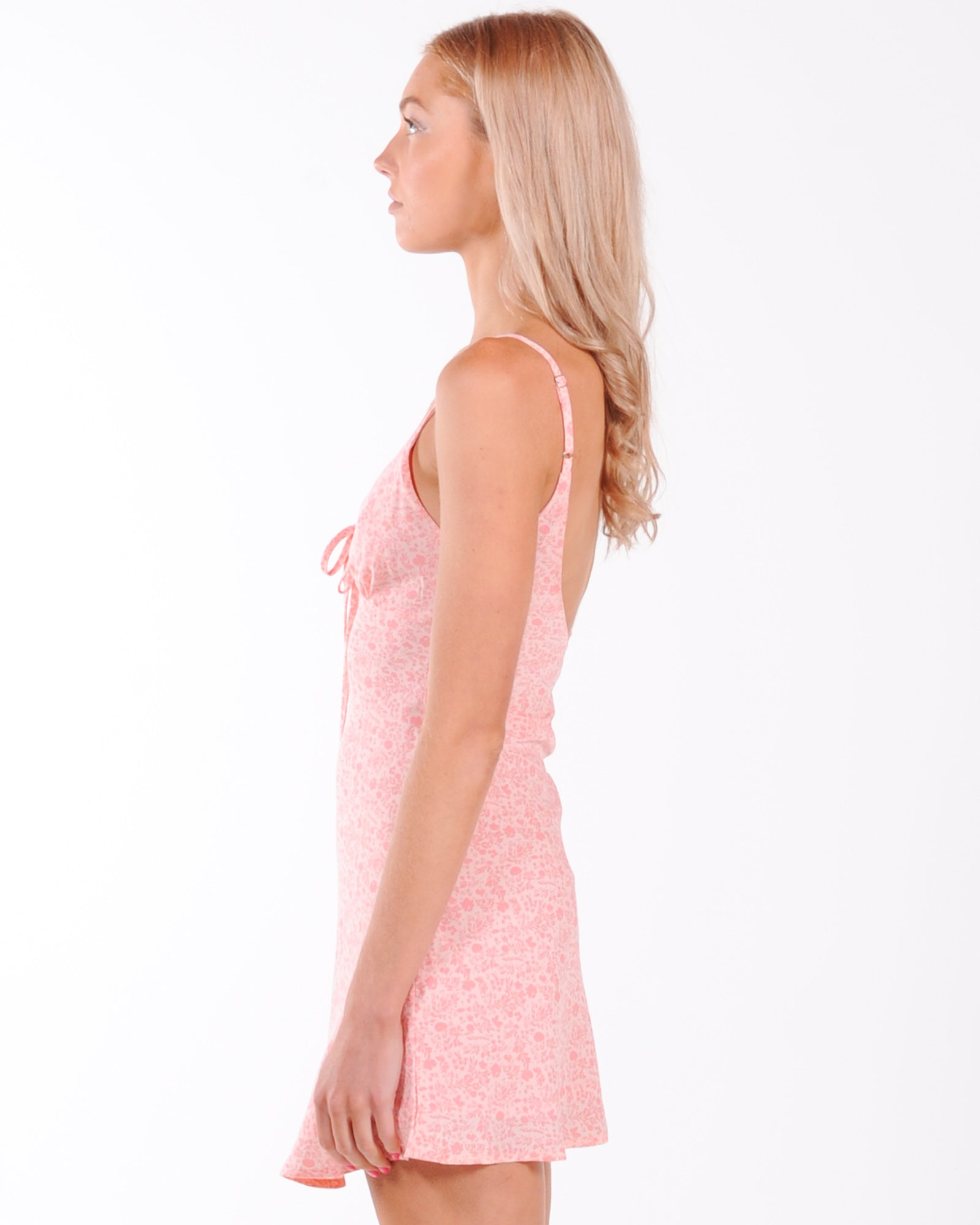 Waiting Game Floral Dress - Pink