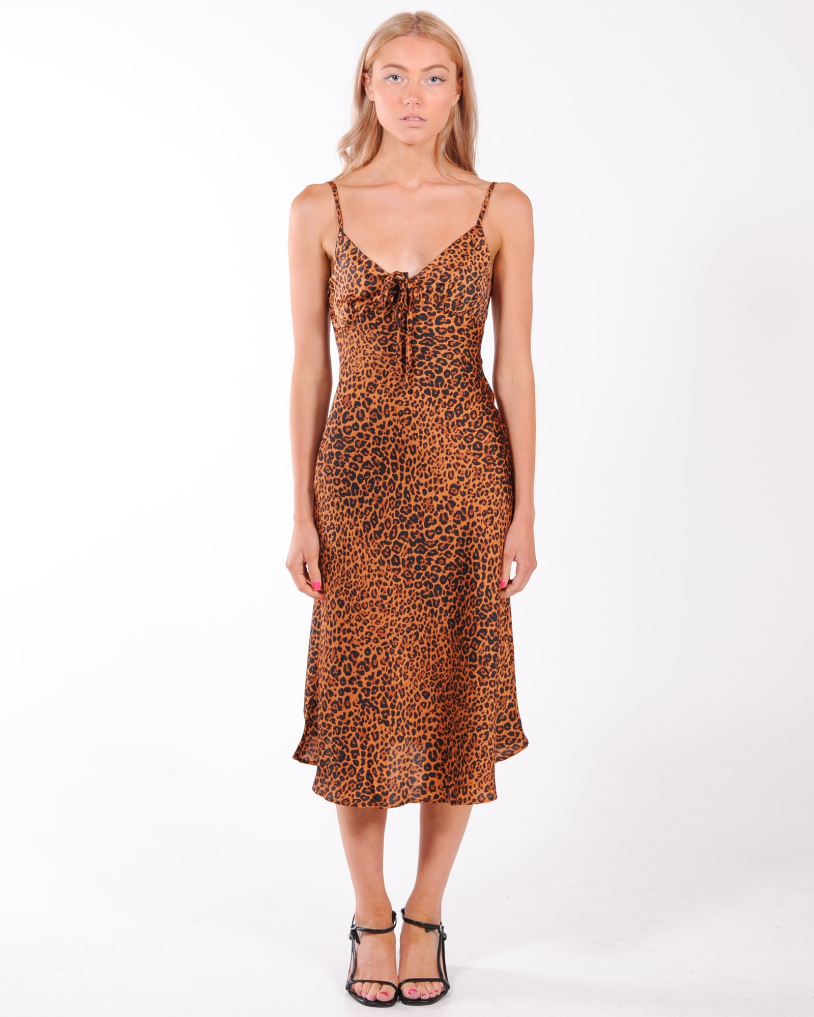 Wild Ways Midi Dress - Leopard