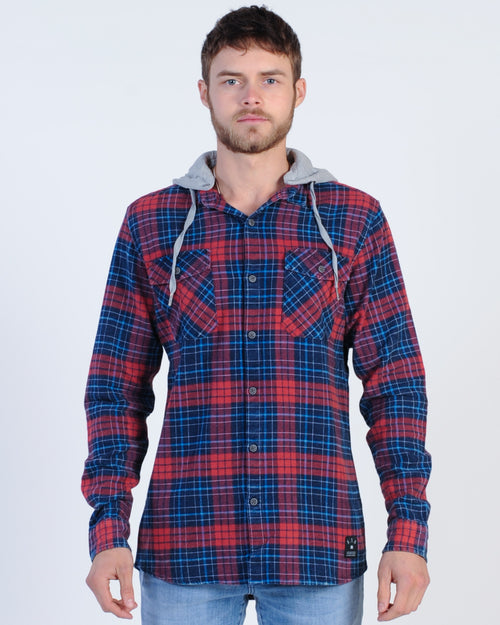 St. Goliath Diesel L/S Check Shirt - Navy