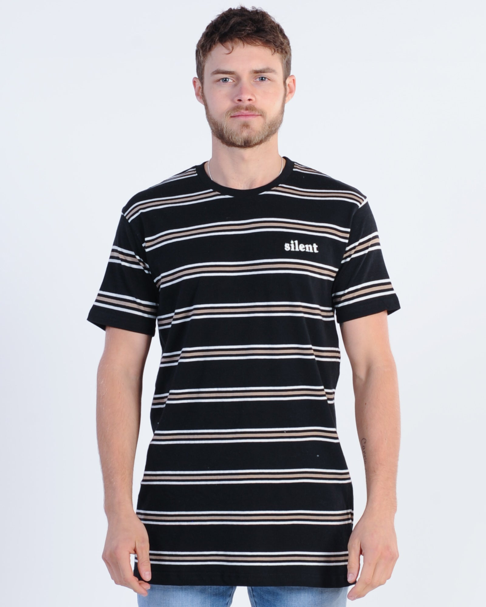 618e3ea439 Silent Theory Exit Stripe Tee - Black – New Generation Clothing