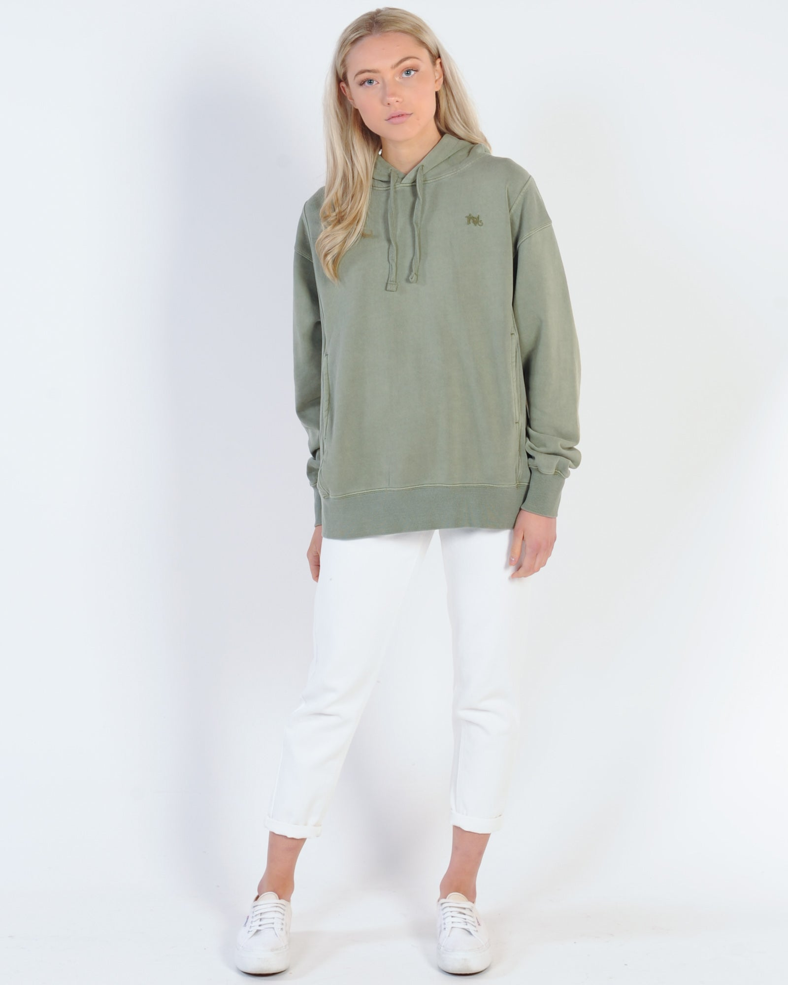 Thrills Hot Lips Hood Sweat - Army Green