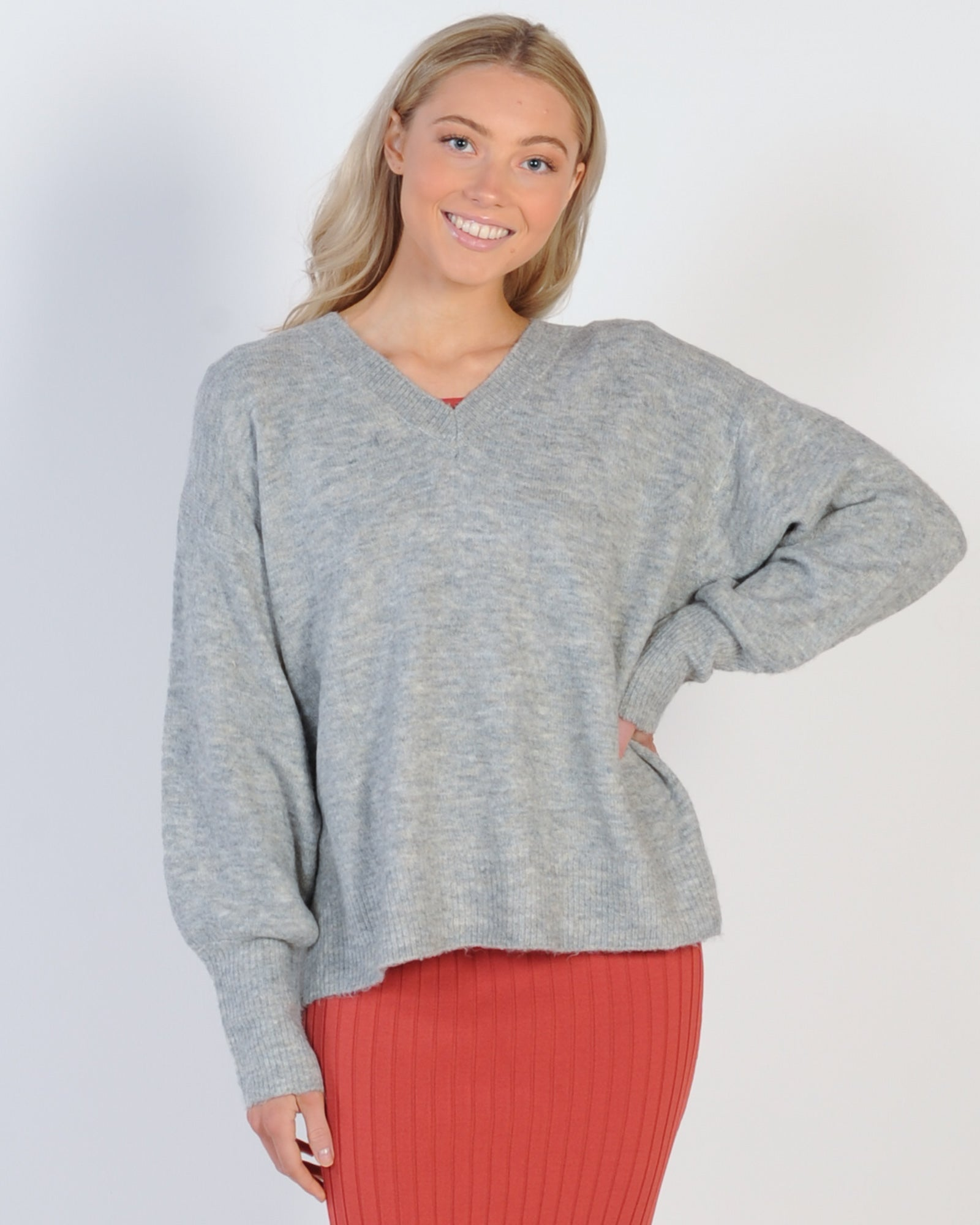 Sunday Slouch Knit - Grey