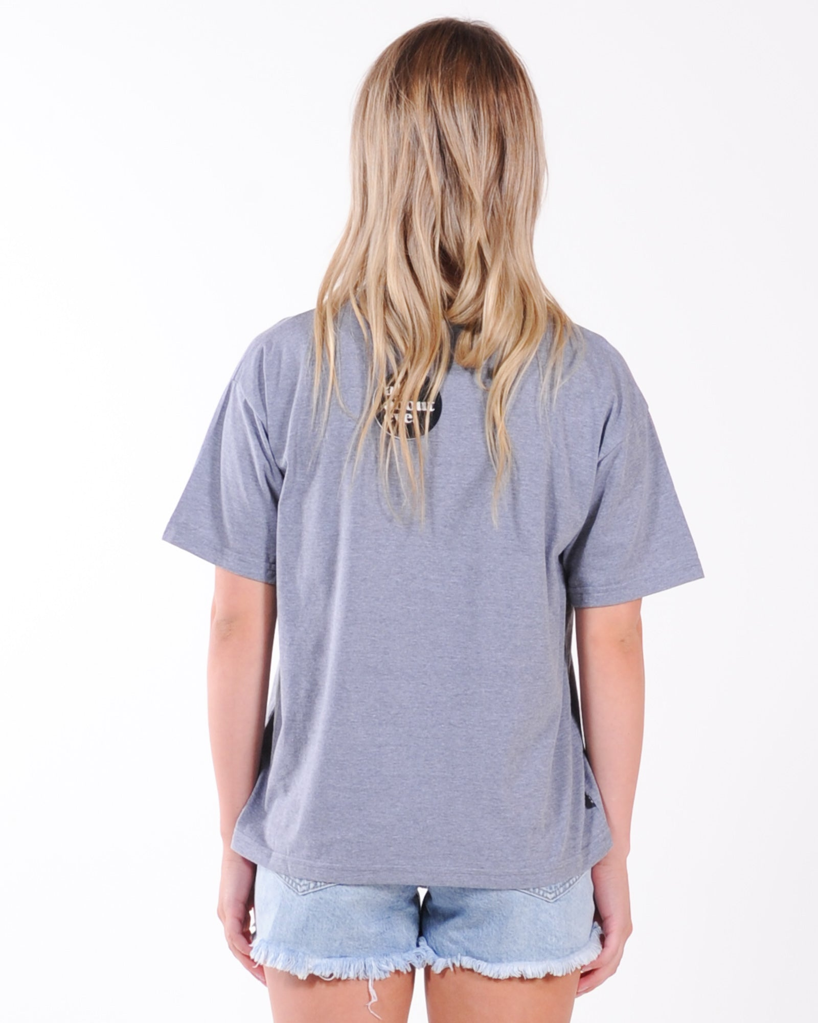 All About Eve Angled Cheetah Tee - Washed Black