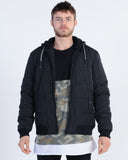 AFENDS SQUAD CREW NECK SWEAT - BLACK