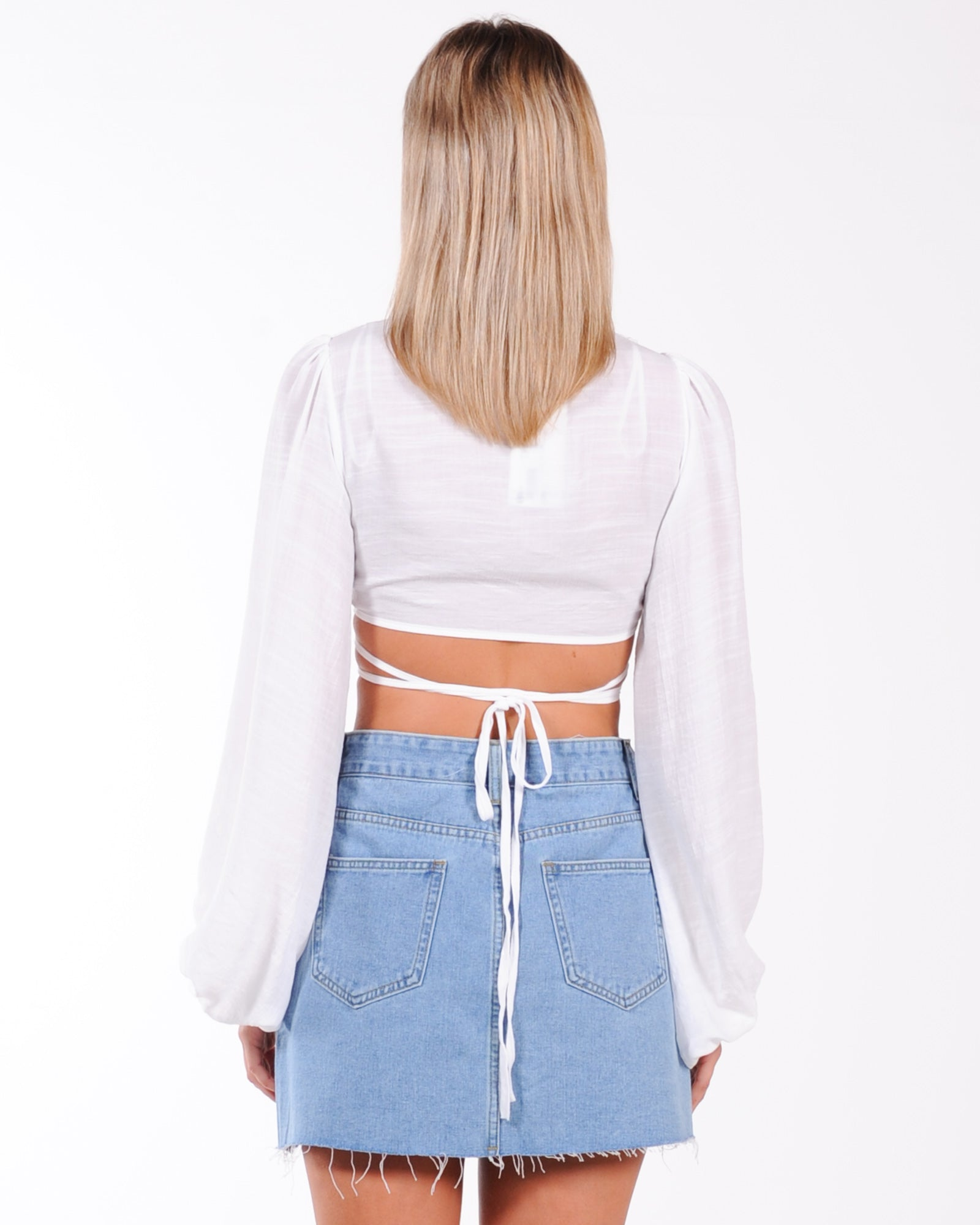 Twisted Love Wrap Top - White