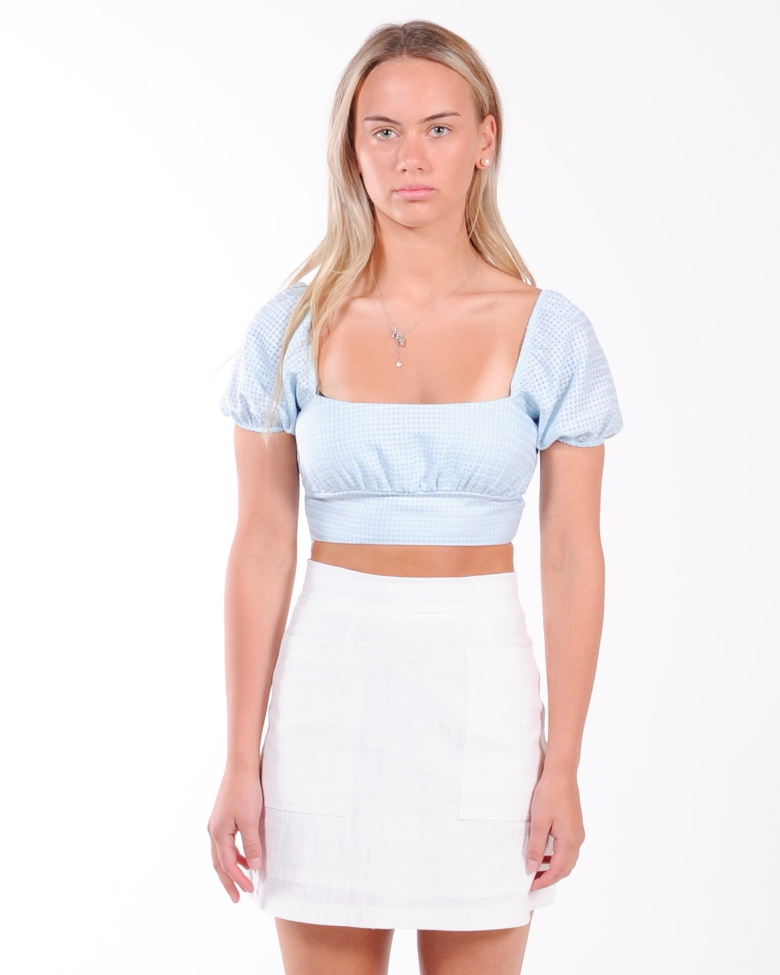 Road Trip Crop Top - Blue