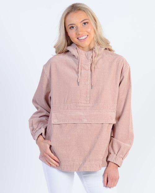 All About Eve Faye Cord Pullover Jacket - Dusty Pink