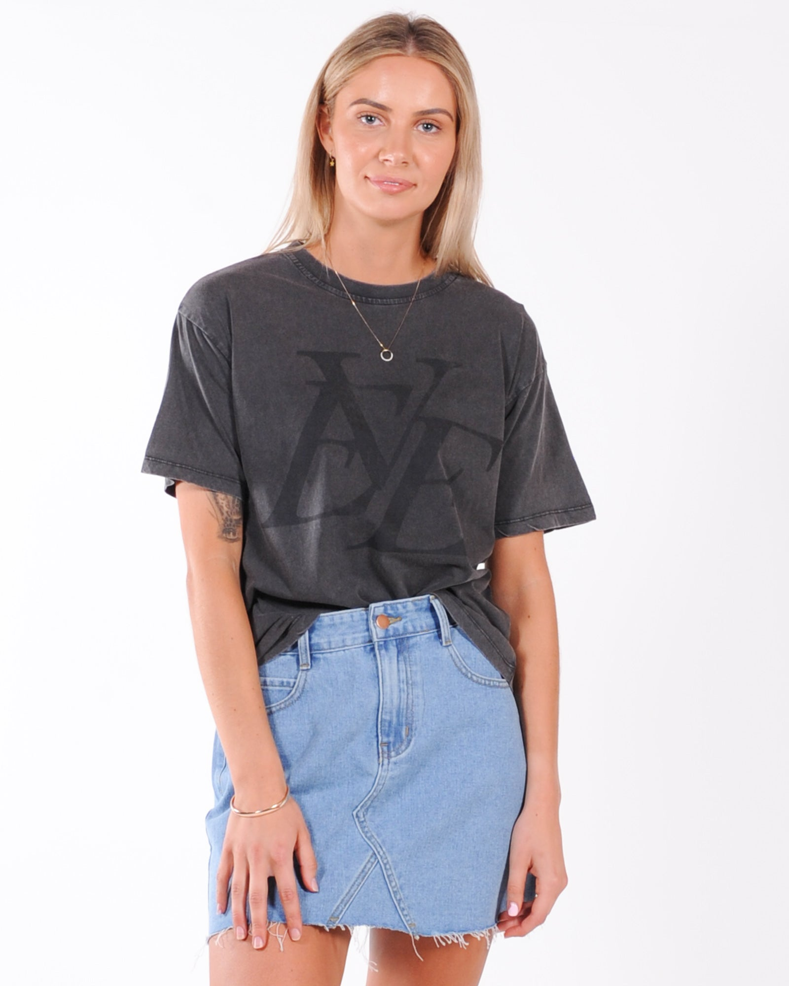 All About Eve Vintage Eve Tee - Washed Black