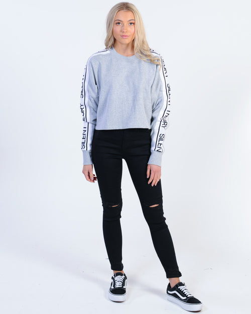 acaa72959e Silent Theory Intuition Crew Sweat - Grey Marle