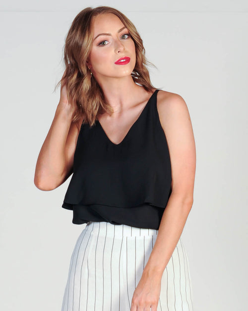 FOLLOW MY LEAD TOP - BLACK