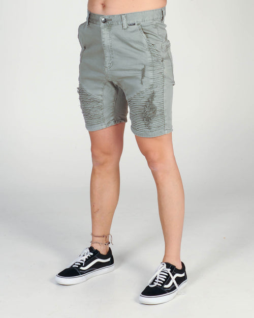 Kiss Chacey Zeppelin Denim Short - Overdyed Grey