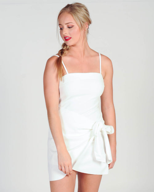 TAKE MY TIME DRESS - WHITE