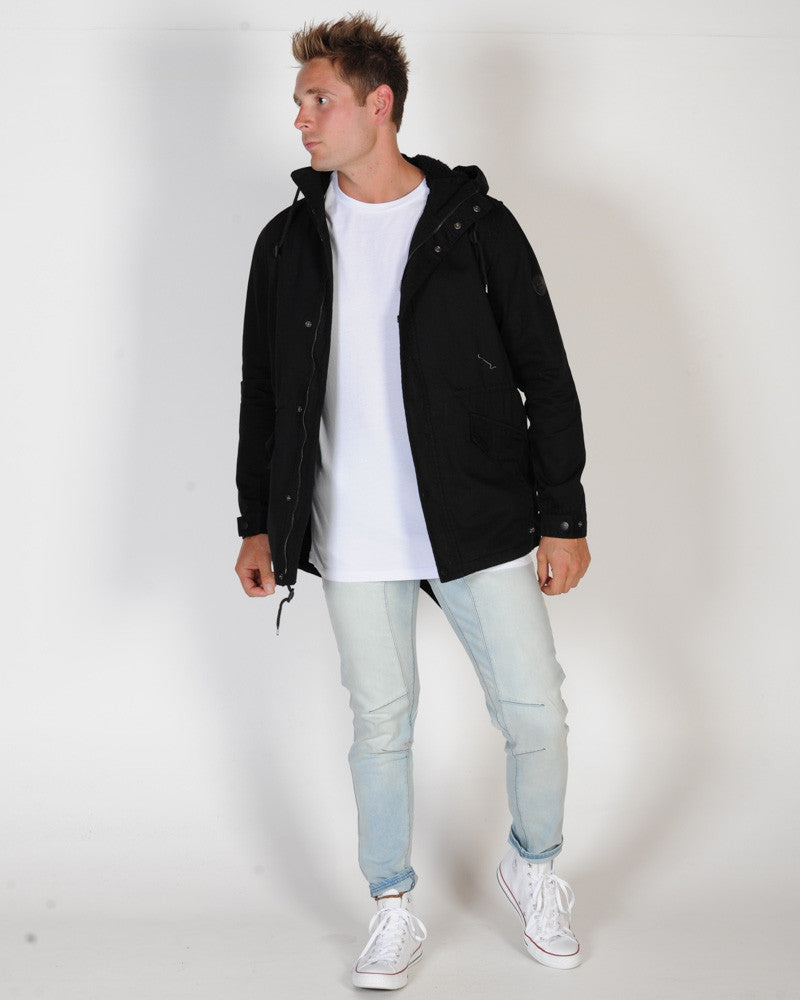 GLOBE GOODSTOCK FISHTAIL IV JACKET - NU BLACK
