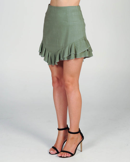 ALL MINE SKIRT - KHAKI