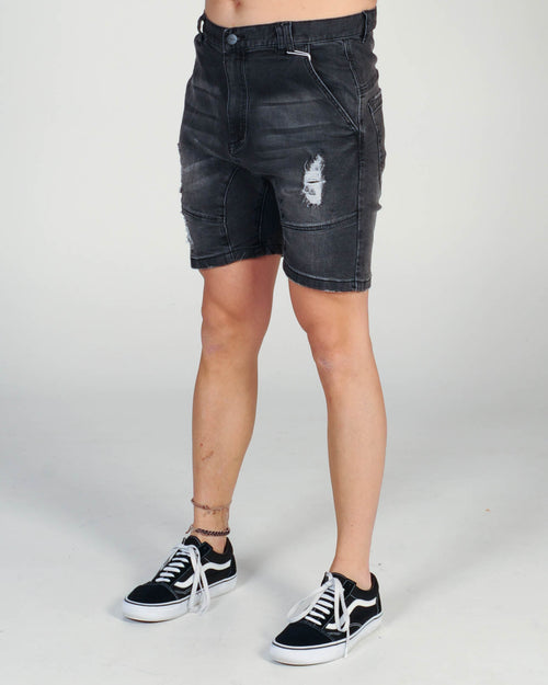 Nena & Pasadena Flight Casual Short - Broken Black
